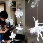 Фото 86: Вытынанки из снежинок и балерин в воздухе