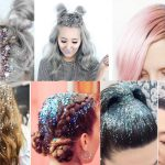Фото 65: Блестки на волосах к Новому Году