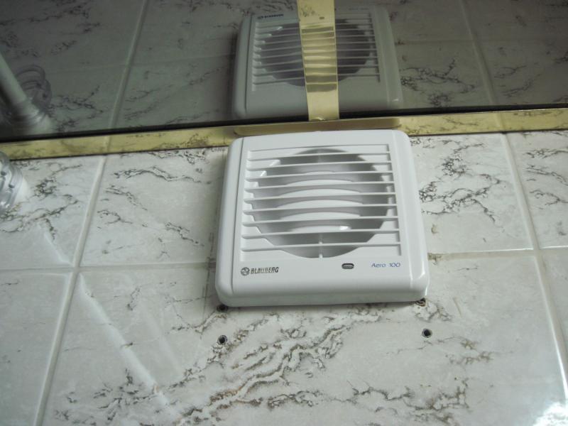 Вентилятор обеспечит хорошую циркуляцию воздуха в ванной