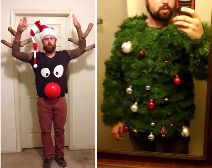 Новогодние забавные мужские костюмы