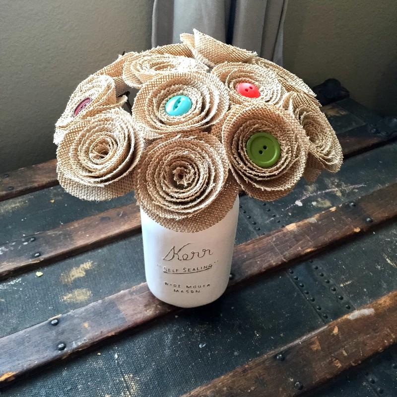 цветы с пуговицами