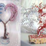 Фото 32: Варианты дерева любви из бисера