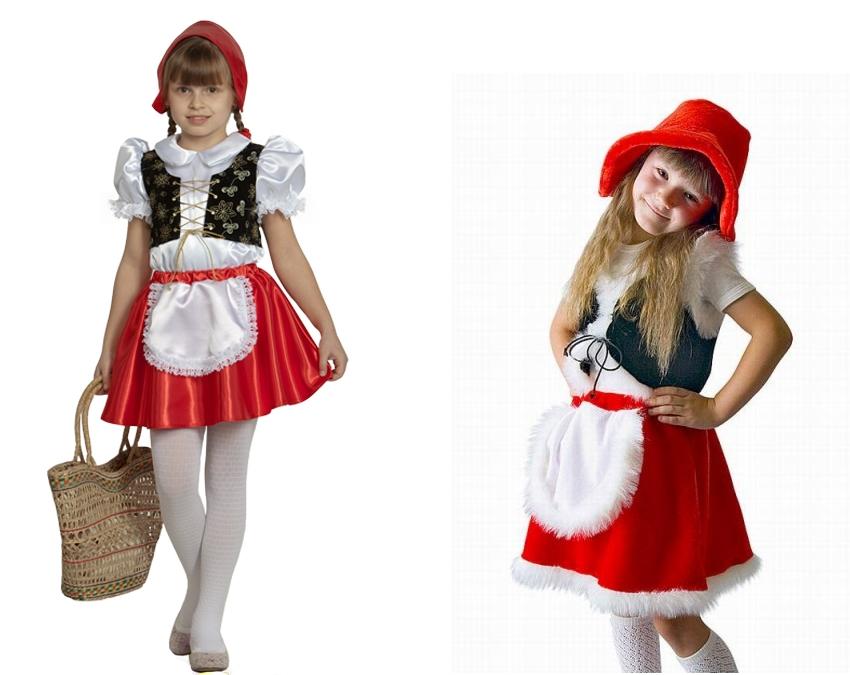 Не составит труда сделать своими руками для девлчки костюм Красной Шапочки