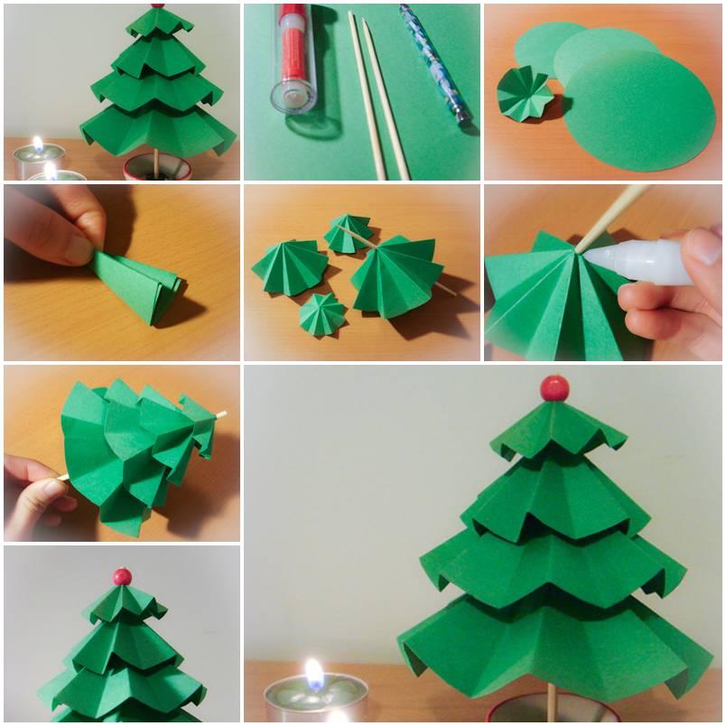 Делать поделки из цветной бумаги на новый год