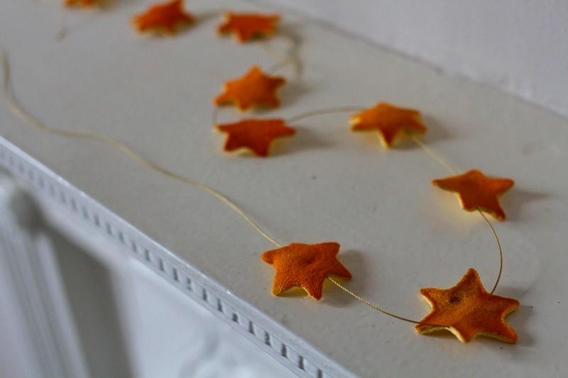 Звездочки из апельсиновой кожуры