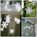 Фото 7: Гирлянда из снежинок своими руками