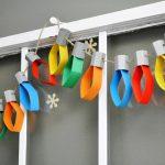 Фото 8: Гирлянда из цветной бумаги в виде лампочек