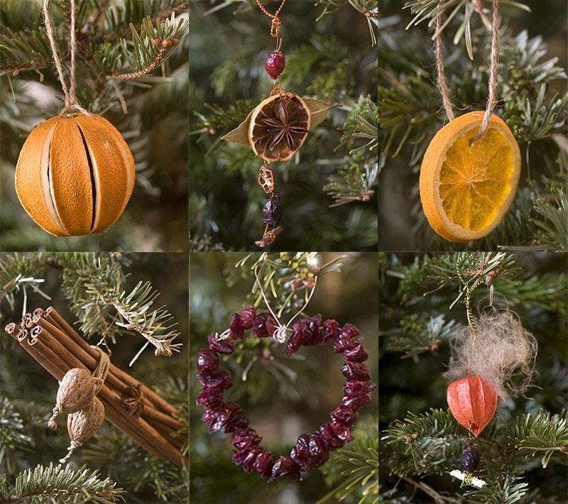 Украшение елки сухофруктами