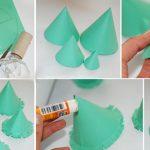 Фото 10: Елочка из бумаги своими руками с бахромой