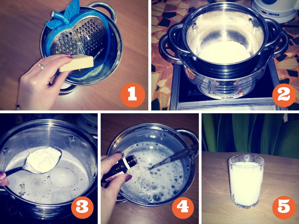 Этапы приготовления универсального моющего средства для чистки газовой плиты с применением каустической соды