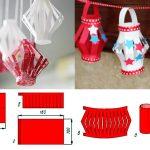 Фото 22: Изготовление новогодних фонариков из цветной бумаги