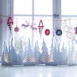 Фото 20: Новогодняя композиция на окно из бумаги