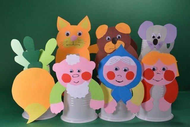 Кукольный театр из стаканчиков