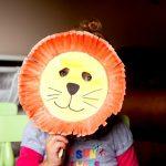 Фото 2: Маска льва из тарелки