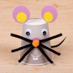 Фото 38: Мышка из стаканчиков