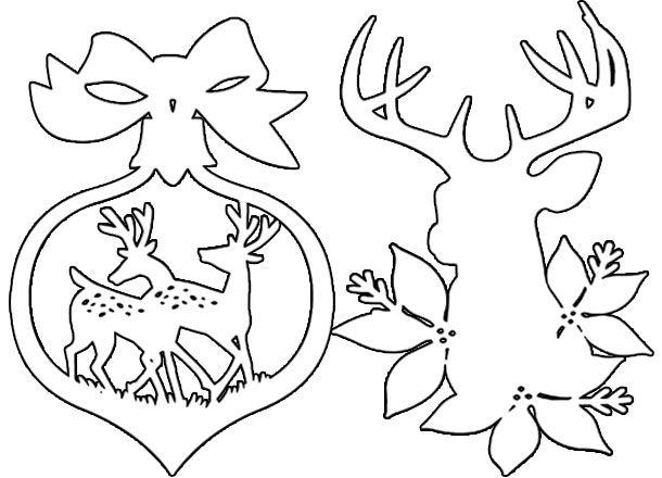 Вытынанки олени
