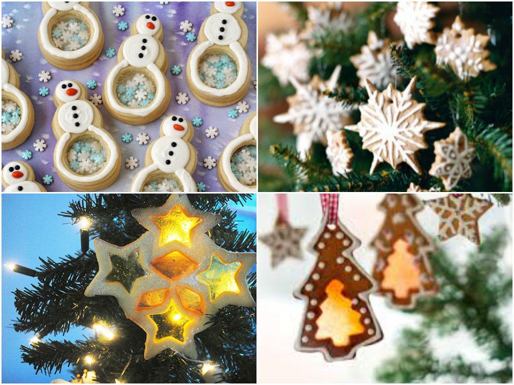 Новогодние игрушки из соленого теста на елку