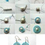 Фото 60: Плетение круглых сережек из бисера