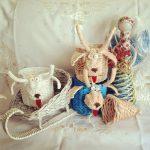 Фото 43: Плетеные игрушки из газетных трубочек к Новому Году