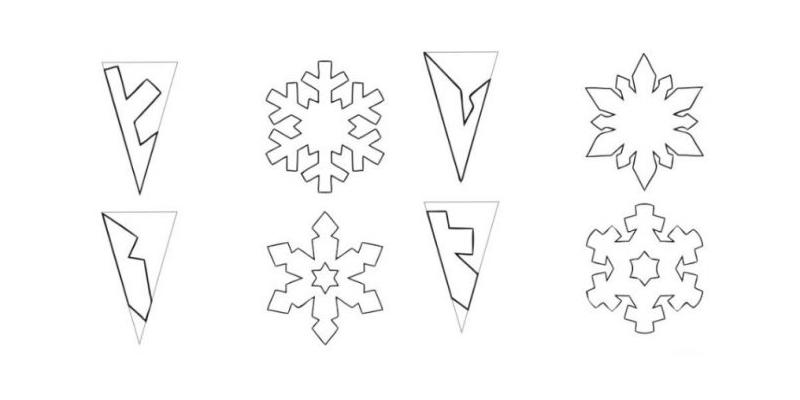Схемы простых снежинок