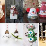 Фото 44: Снеговички своими руками из разнообразных материалов
