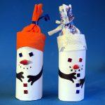 Фото 22: Снеговики из бумаги
