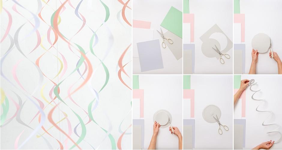 Спиральная гирлянда из бумаги