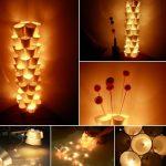 Фото 19: Настенный светильник из стаканчиков