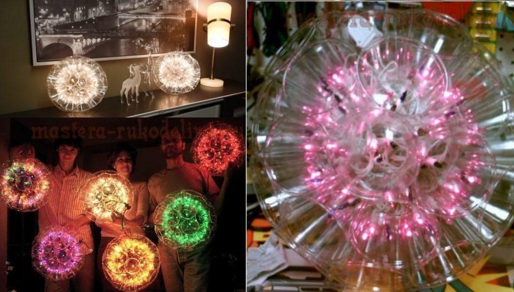 Светящиеся шары из стаканчиков