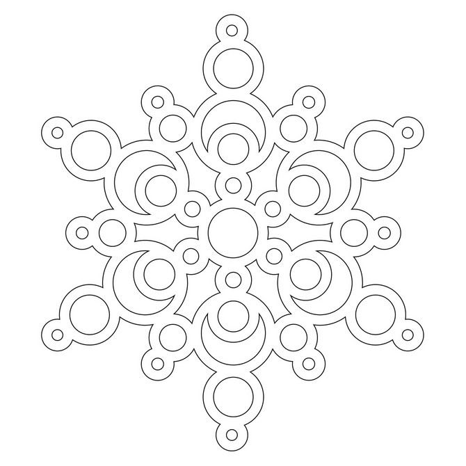 Трафарет снежинки 7