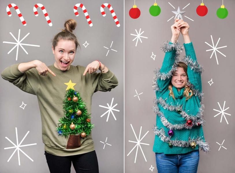 Новогодний декор одежды