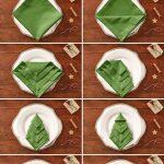 Фото 45: Елочка из салфетки для украшения новогоднего стола