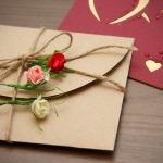 Фото 20: Оформление конверта бумажными розами