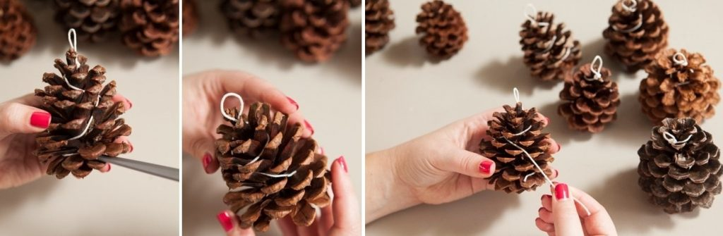 Как сделать петельку на шишке своими руками