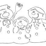 Фото 8: Шаблоны на окна снеговики из бумаги