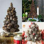 Фото 69: Новогодние елки из шишек