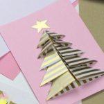 Фото 80: Новогодняя открытка с объемной елочкой