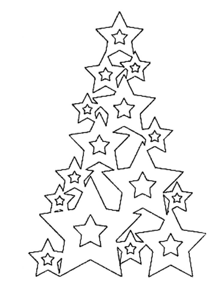 Шаблон ёлочки из звезд