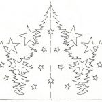 Фото 29: Вытынанка елочка шаблон