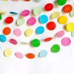 Фото 10: Гирлянда из кругов из цветной бумаги