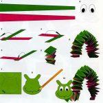 Фото 24: Гусеница из цветной бумаги