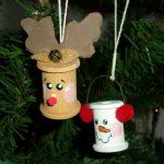 Фото 27: Новогодние игрушки из шпулек для ниток