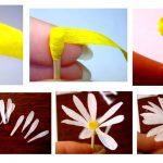 Фото 2: Ромашки из гофрированной бумаги
