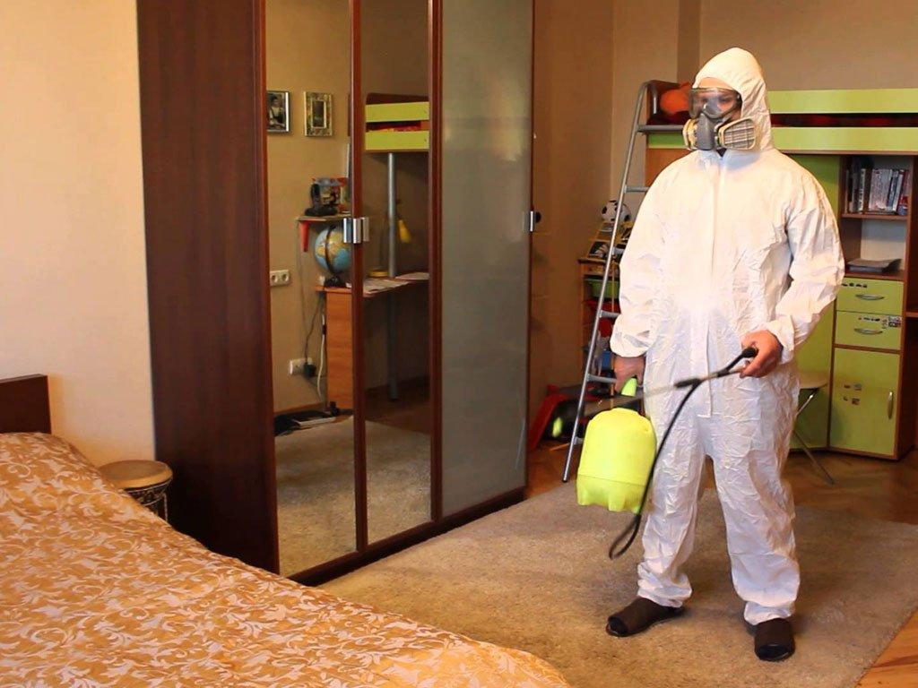 Дезинфекция помещения направлена на поглощение вредных токсинов