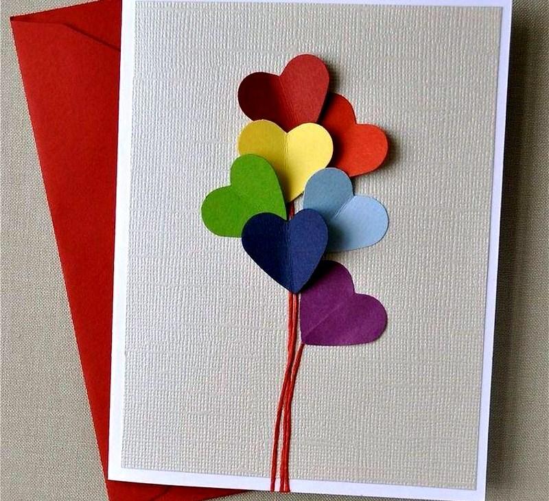 Подарок на день рождения из цветной бумаги виду