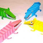 Фото 28: Крокодилы из цветной бумаги