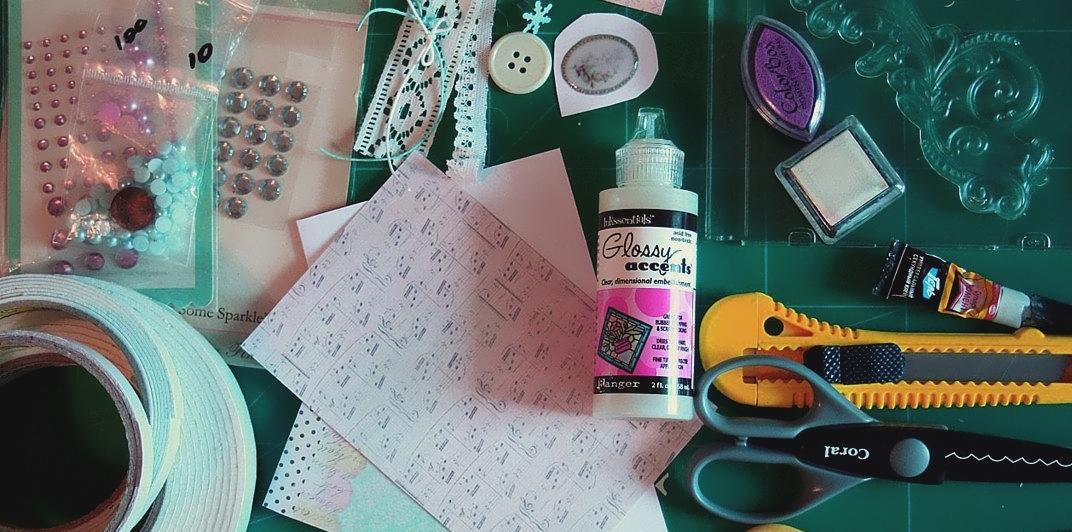 Материалы для изготовления новогодних открыток