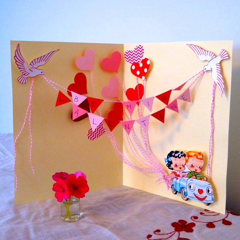 Большие открытки своими руками из бумаги и картона