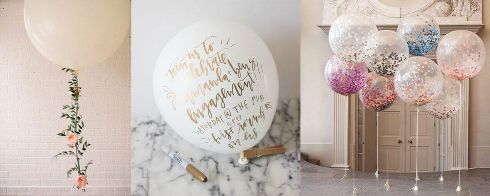 Надписи и конфетти на шариках