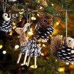 Фото 14: Новогодние игрушки из шишек